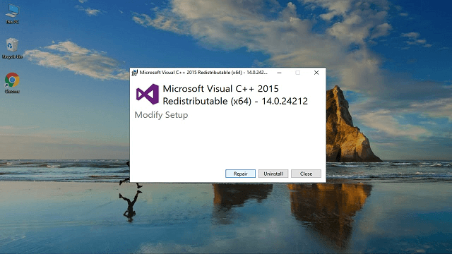 """visual c++ """"14"""" runtime libraries (x64)"""
